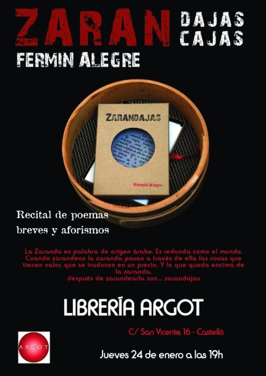 Librería Argot, Castellón, 24-1-2013